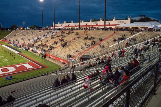 Stands at Cajun Field lacking attendance during the Ragin' Cajuns home game against Georgia State on November 10, 2018.