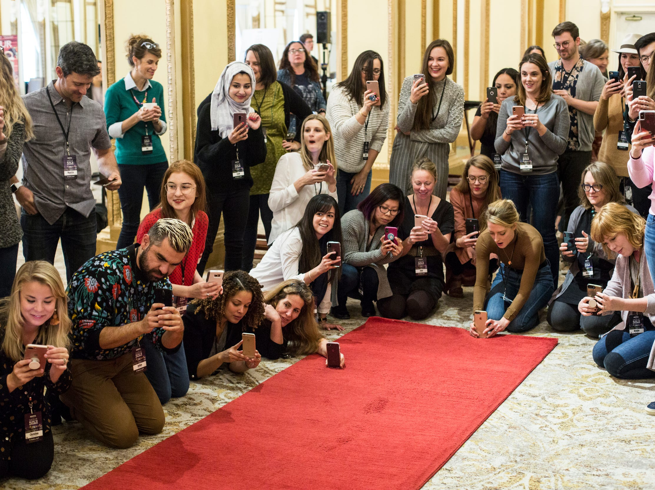 November 11 2018 - Saveur Blog Award finalists and guests gather around the red carpet during a private Peabody duck march inside of the Peabody Hotel.