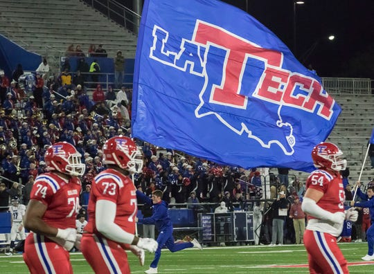 Louisiana Tech defeated Rice University 28-13 at Joe Aillet Stadium in Ruston, La. on Nov. 10.