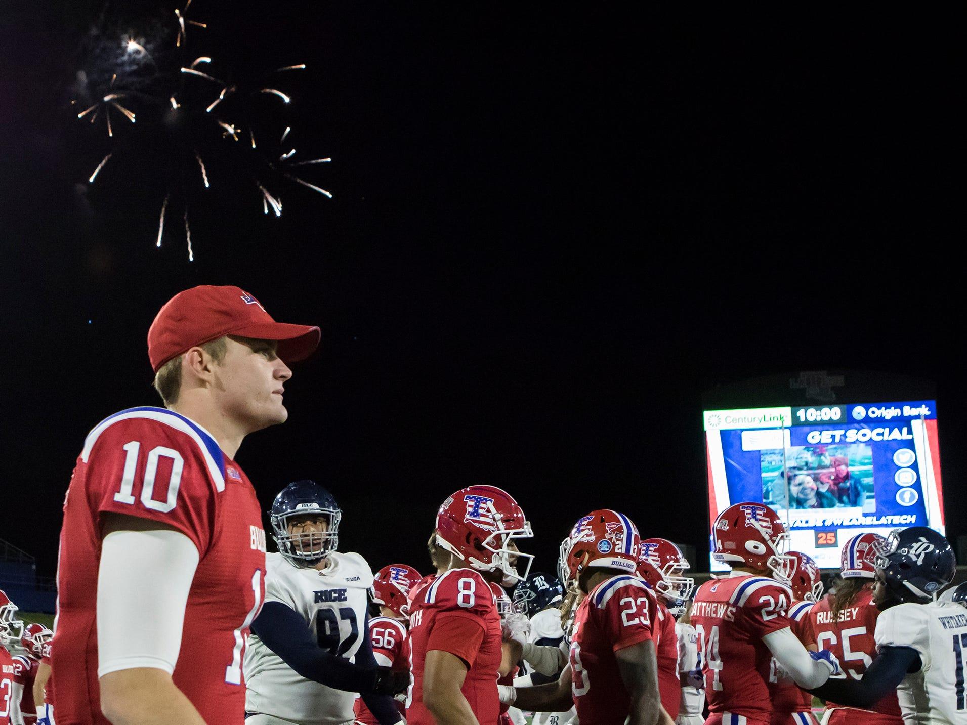 Louisiana Tech defeated Rice University 28-13 at Joe Aillet Stadium in Ruston, La. on Nov. 10.