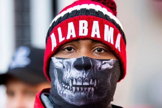 Cold weather at the Alabama vsMississippi State Universit game at Bryant Denny Stadium in Tuscaloosa, Ala., on Saturday November 9, 2018.
