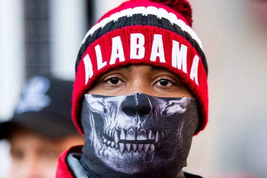 Cold weather at the Alabama vsMississippi State Universit game at Bryant Denny Stadium in Tuscaloosa, Ala., on Saturday November 9, 2018.