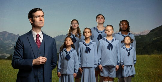 "Captain von Trapp (Gil Brady) and the von Trapp children from Alabama Shakespeare Festival's production of ""The Sound of Music."""