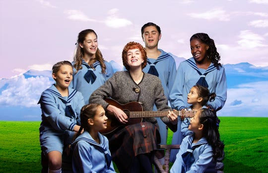 "Maria (Courtney Bassett) and the von Trapp children from Alabama Shakespeare Festival's production of ""The Sound of Music."""