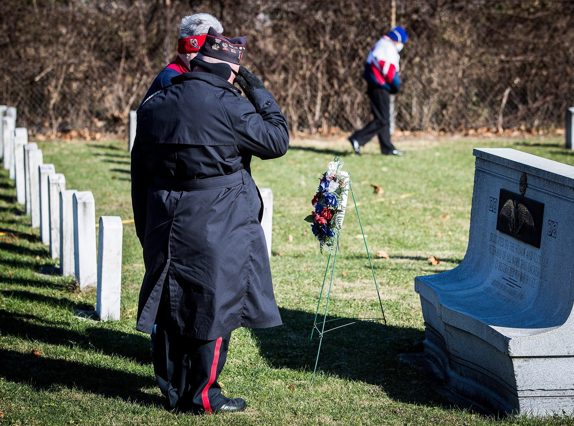 American Legion Post 19 presented a wreath during the Delaware County Veterans Day Service at Beech Grove Cemetery Sunday morning.