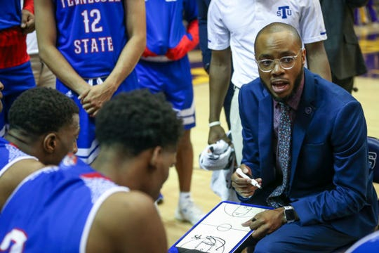 """Brian """"Penny"""" Collins made his debut in Tennessee State's 89-76 loss Saturday at Lipscomb."""