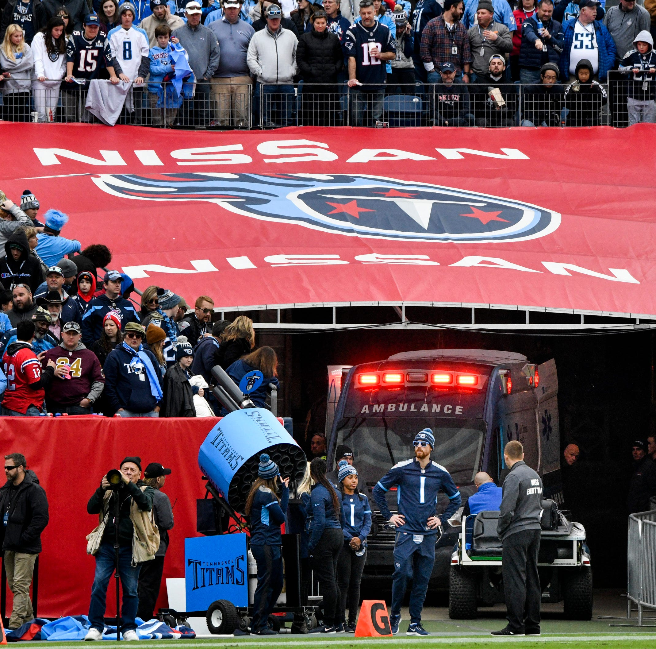 Condition improves for fan who fell during Titans-Patriots game at Nissan Stadium