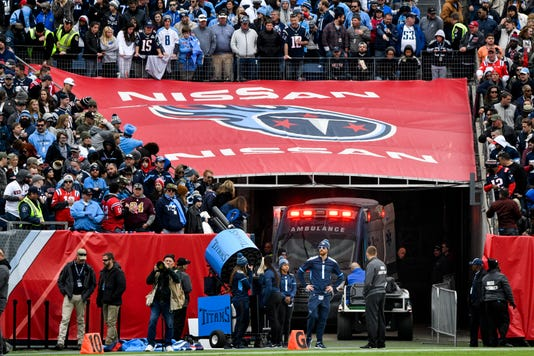 ee52df40a Patriots vs. Titans  Fan falls from Nissan Stadium stands
