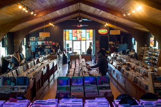 The new location of Grimey's New & Preloved Music is a former church in Nashville on Saturday, Nov. 10, 2018.