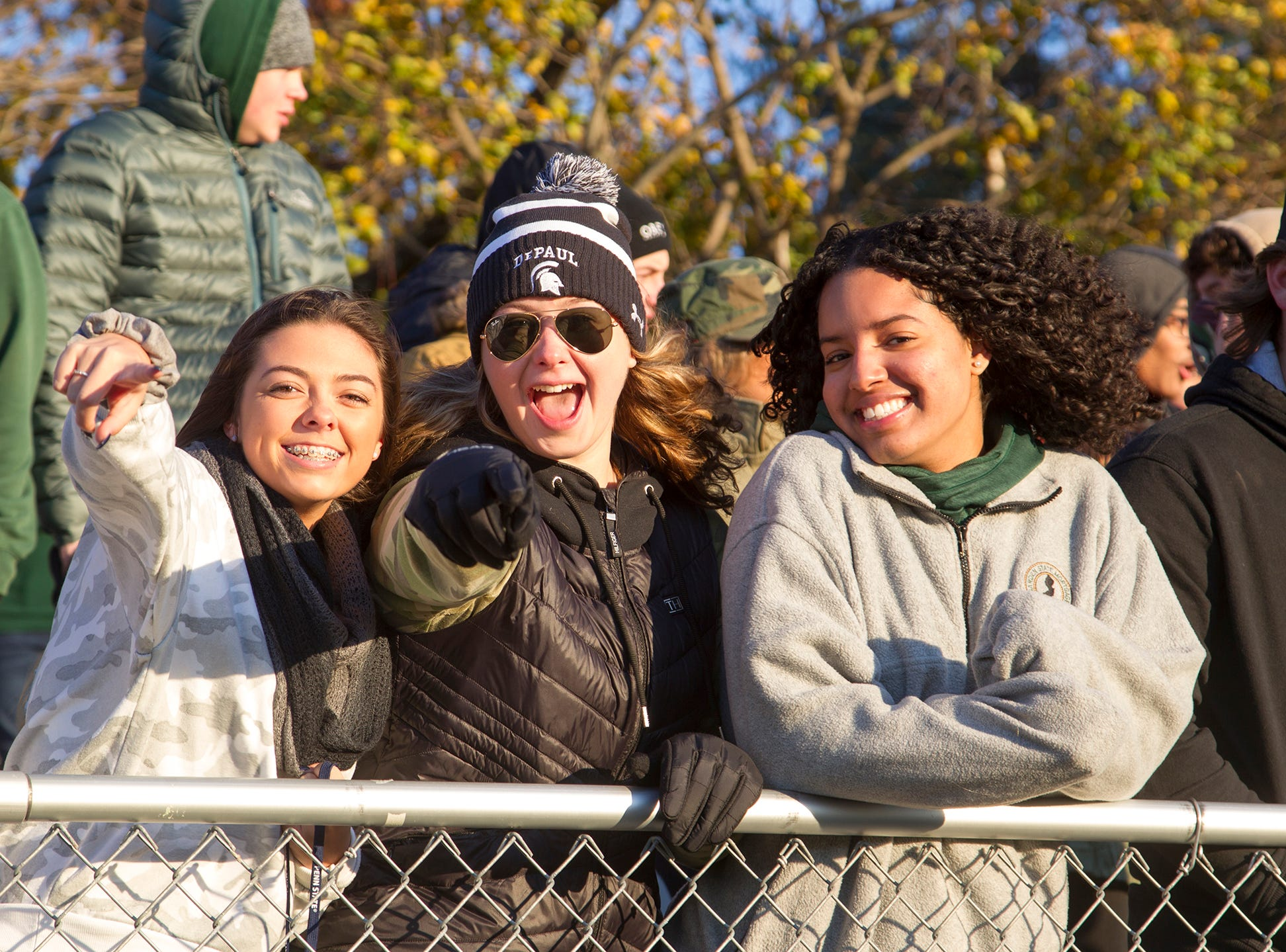 The crowd at the Mater Dei versus DePaul Catholic high school playoff football game. Mater Dei versus DePaul Catholic high school, 28-23. 11/10/2018