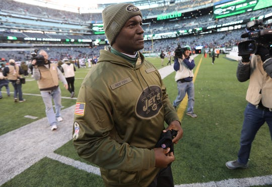 Jets Head Coach, Todd Bowles is shown after the Jets' loss to the Bills, Sunday, November 11, 2018. During the second half of the game some fans were screaming for him to be fired.