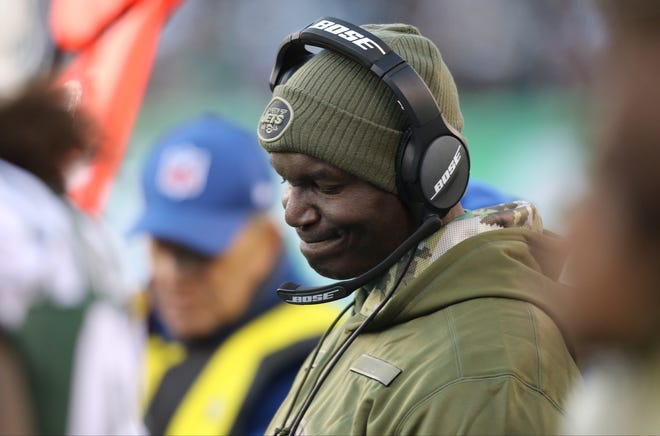 Jets Head Coach, Todd Bowles during the fourth quarter of their 41-10 loss against the Bills. Sunday, November 11, 2018. During the second half of the game some fans were screaming for him to be fired.