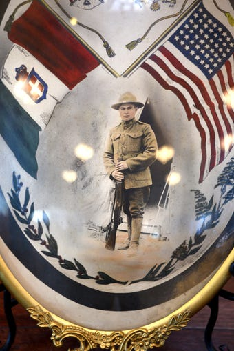 PFC Joseph Lorino honored with Purple Heart 100 years after his death in World War I during a ceremony at St. Mary of the Pines Church.