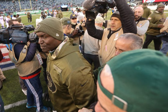 Jets Head Coach, Todd Bowles is featured after Jets' loss to bills on Sunday, November 11, 2018. In the second half of the game, some fans screamed for being released.