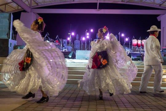 Ballet Folklorico Diamante del Valle perform during Noche de Nachos Saturday, Nov. 10, 2018, in downtown Las Cruces.