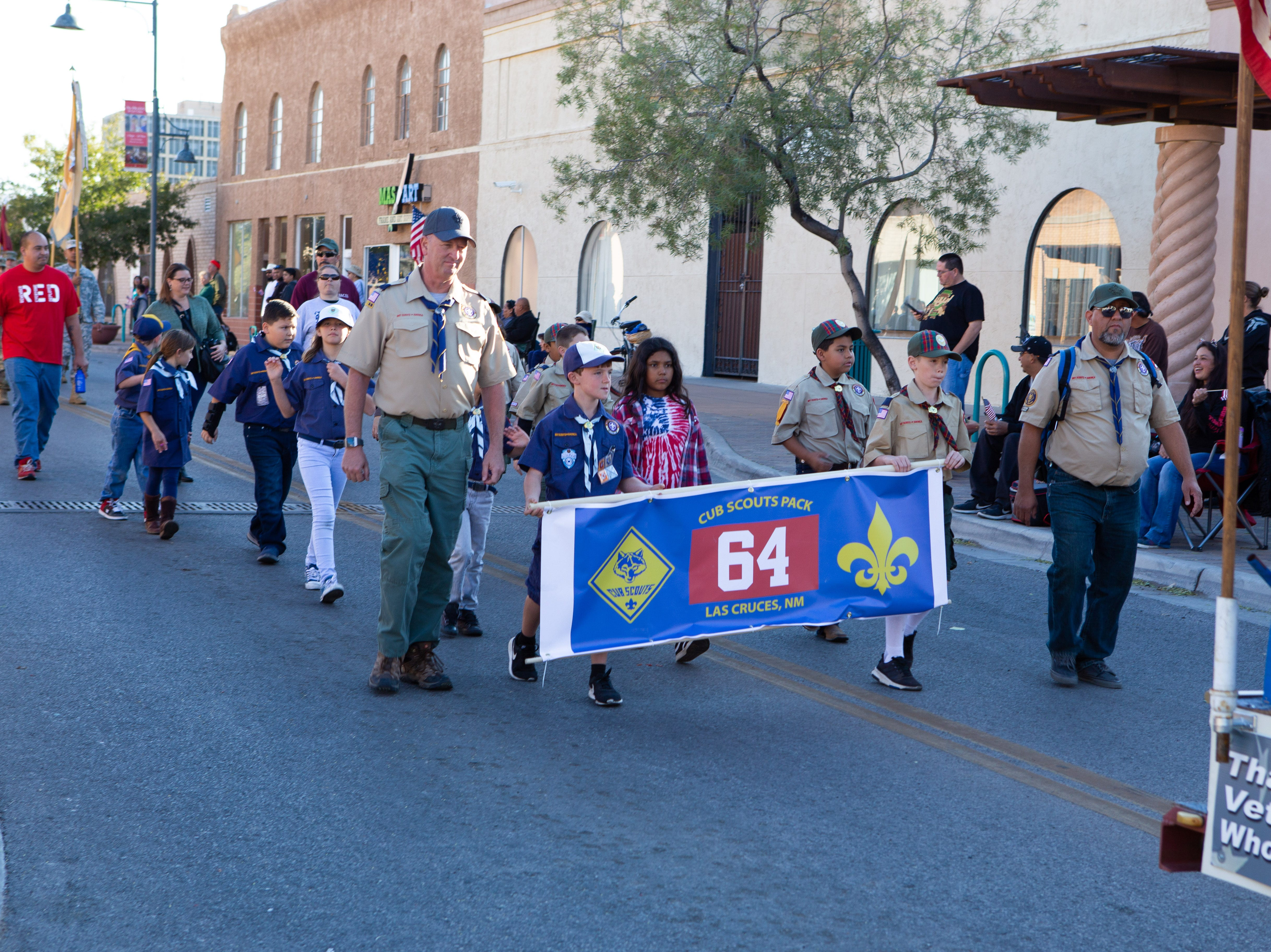 Cub Scout Pack 64 participated in the Veterans Day Parade held on November 10, 2018.
