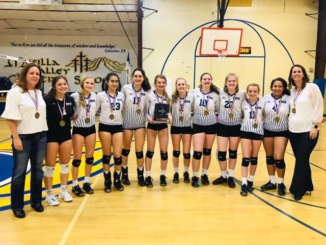Mesilla Valley Christian won the District 3-2A volleyball tournament title on Saturday.