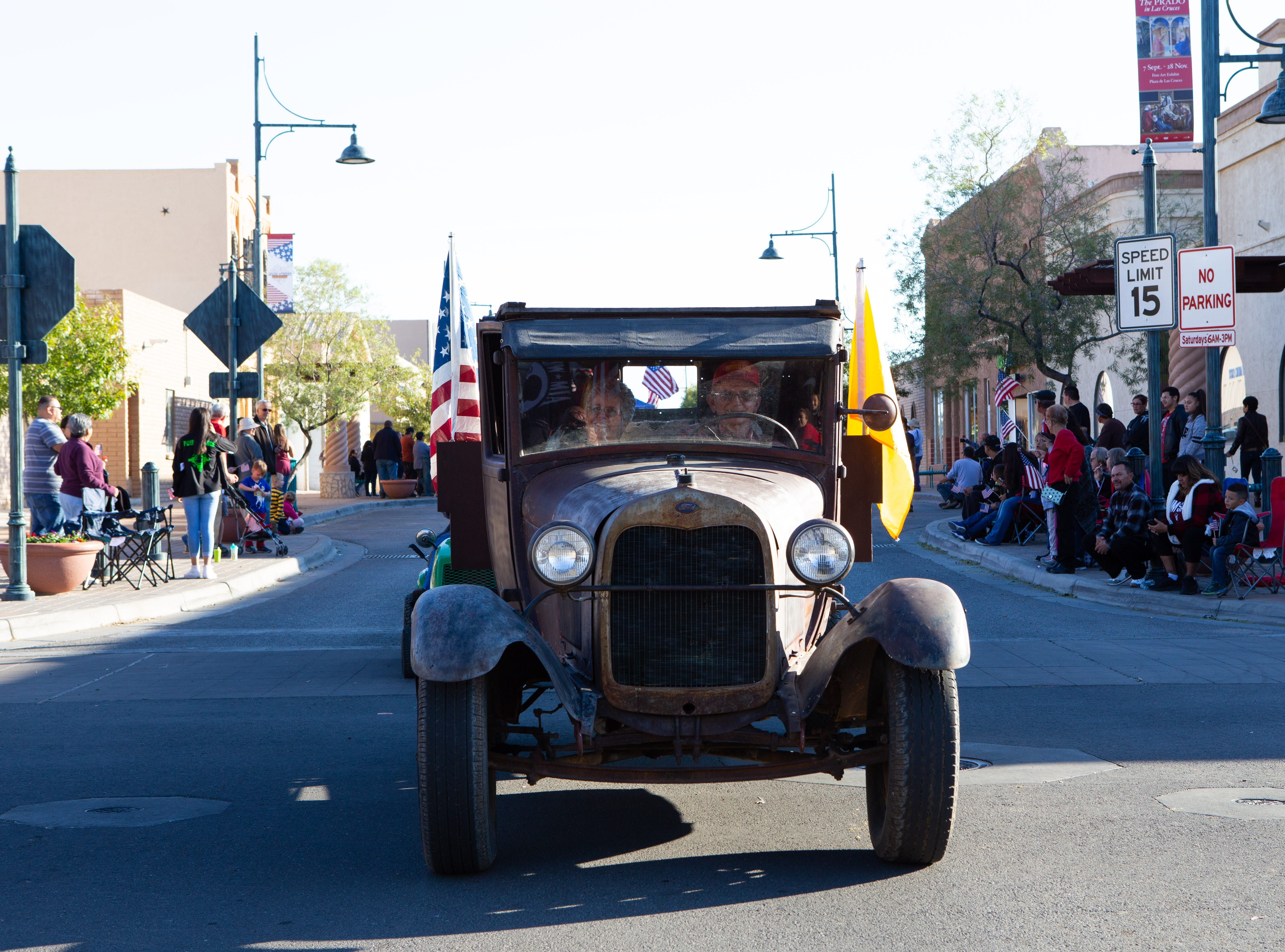 Johnny Duffey's 1928 Model AA Ford during the Veterans Day Parade held on November 10, 2018.