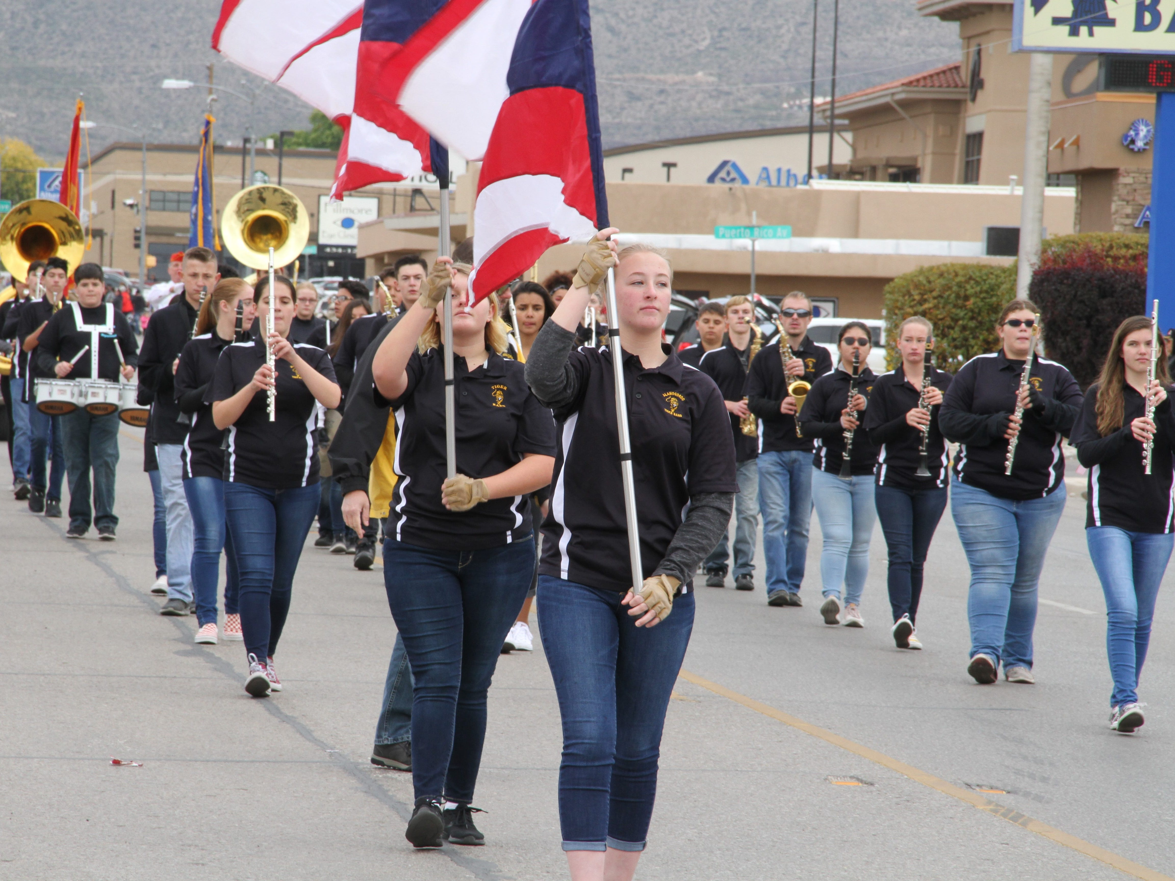 Alamogordo's Tiger Marching Band participated in Saturday's Veterans Day Parade.