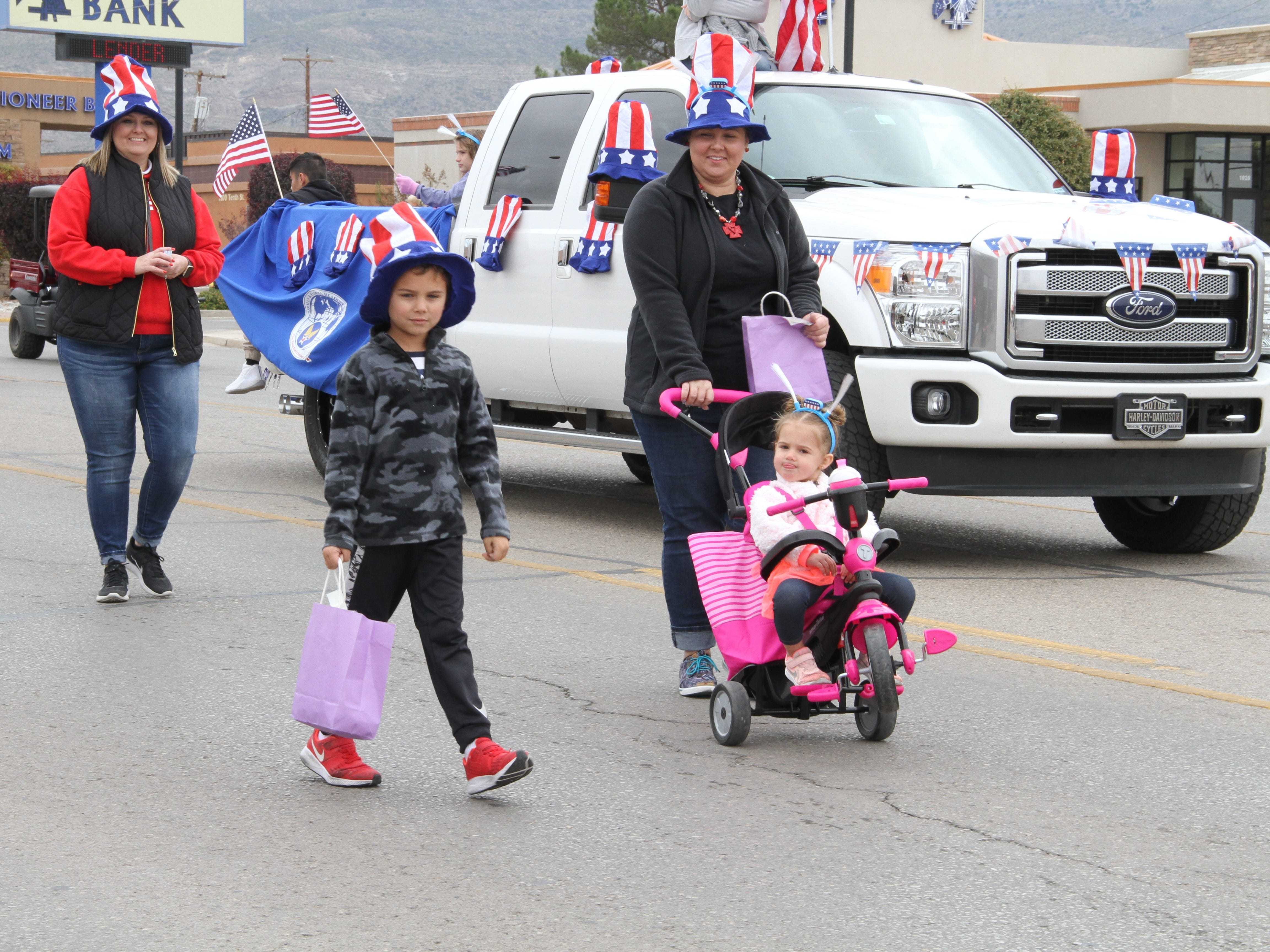 An Alamogordo family participated in the Veterans Day Parade Saturday.