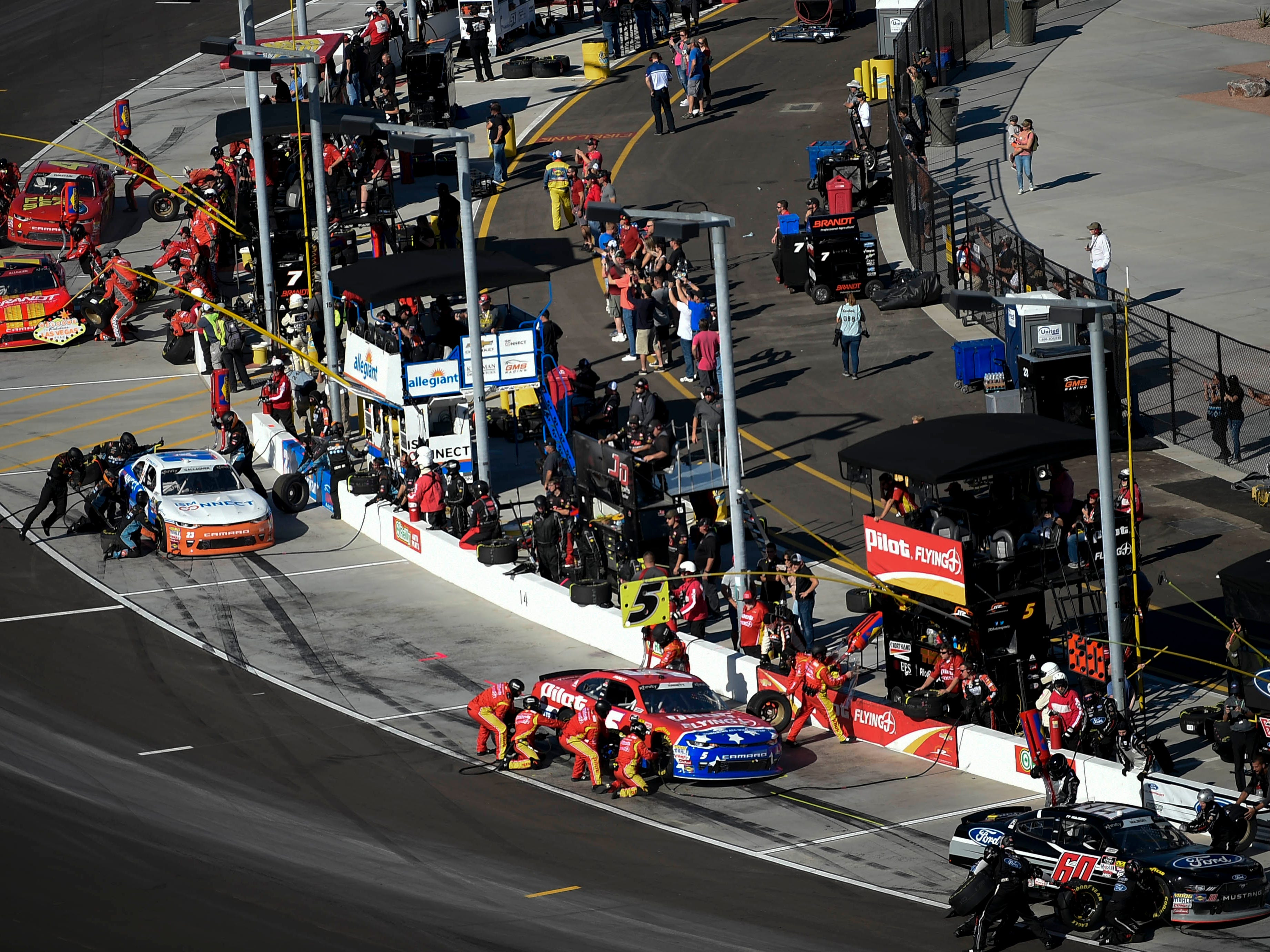 Nov 10, 2018; Avondale, AZ, USA; A general view of pit row during the NASCAR Xfinity Series Race at ISM Raceway. Mandatory Credit: Kelvin Kuo-USA TODAY Sports