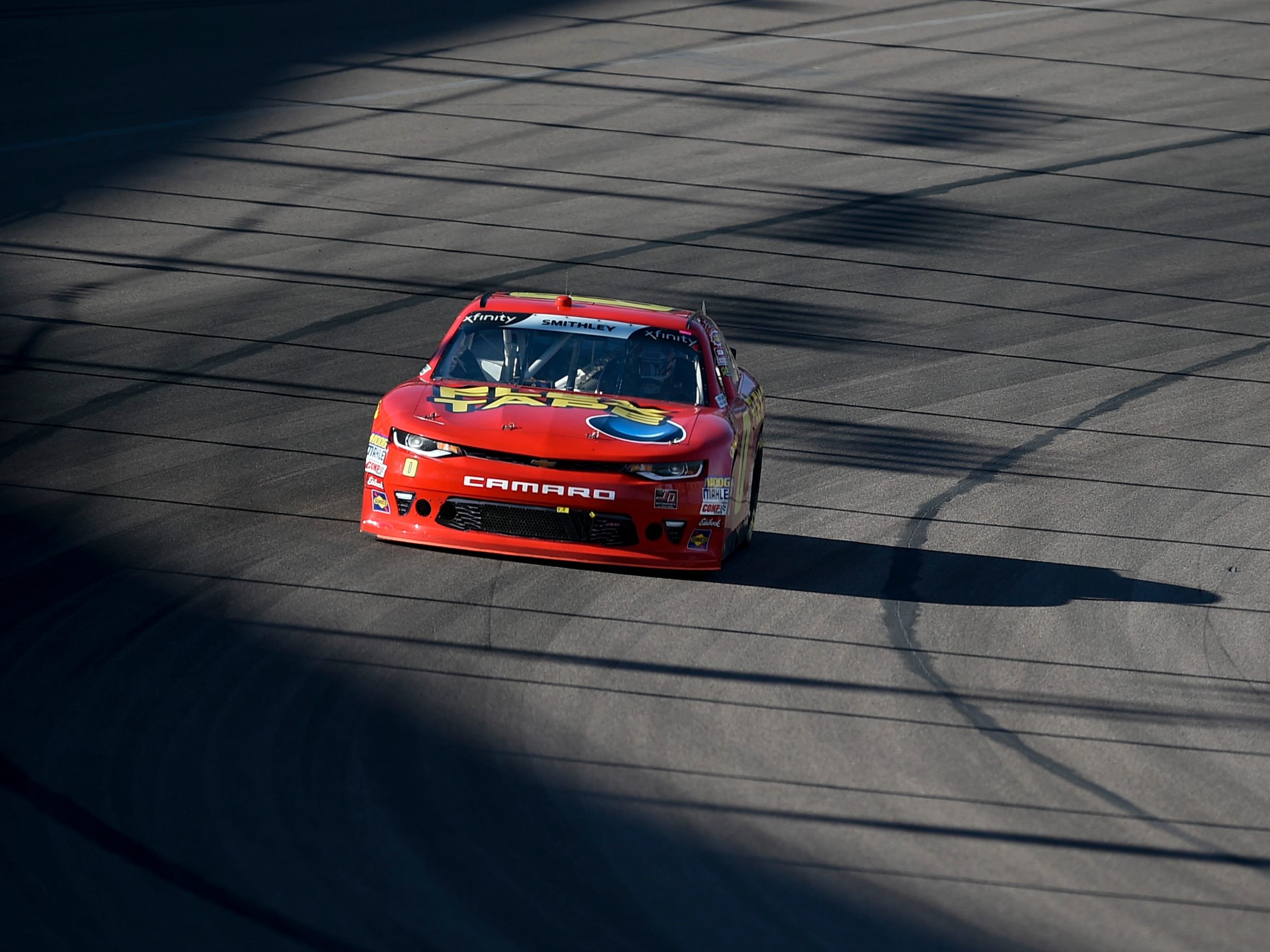 Nov 10, 2018; Avondale, AZ, USA; NASCAR Xfinity Series driver Justin Allgaier (7) during the NASCAR Xfinity Series Race at ISM Raceway. Mandatory Credit: Kelvin Kuo-USA TODAY Sports