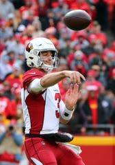 Nov 11, 2018; Kansas City, MO, USA; Arizona Cardinals quarterback Josh Rosen (3) throws a pass against the Kansas City Chiefs in the second half at Arrowhead Stadium. Mandatory Credit: Jay Biggerstaff-USA TODAY Sports