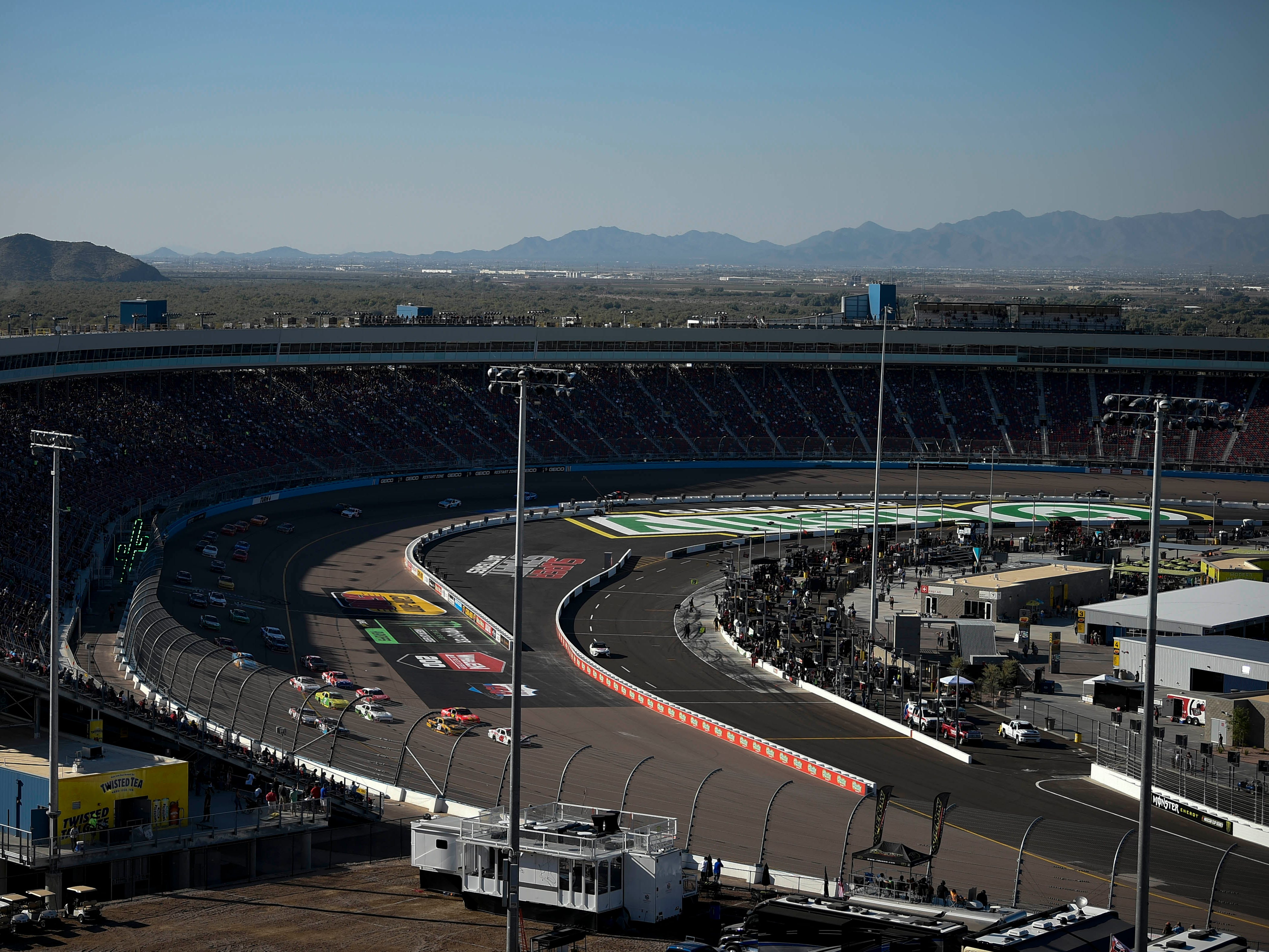 Nov 10, 2018; Avondale, AZ, USA; A general view of ISM Raceway during the NASCAR Xfinity Series Race. Mandatory Credit: Kelvin Kuo-USA TODAY Sports