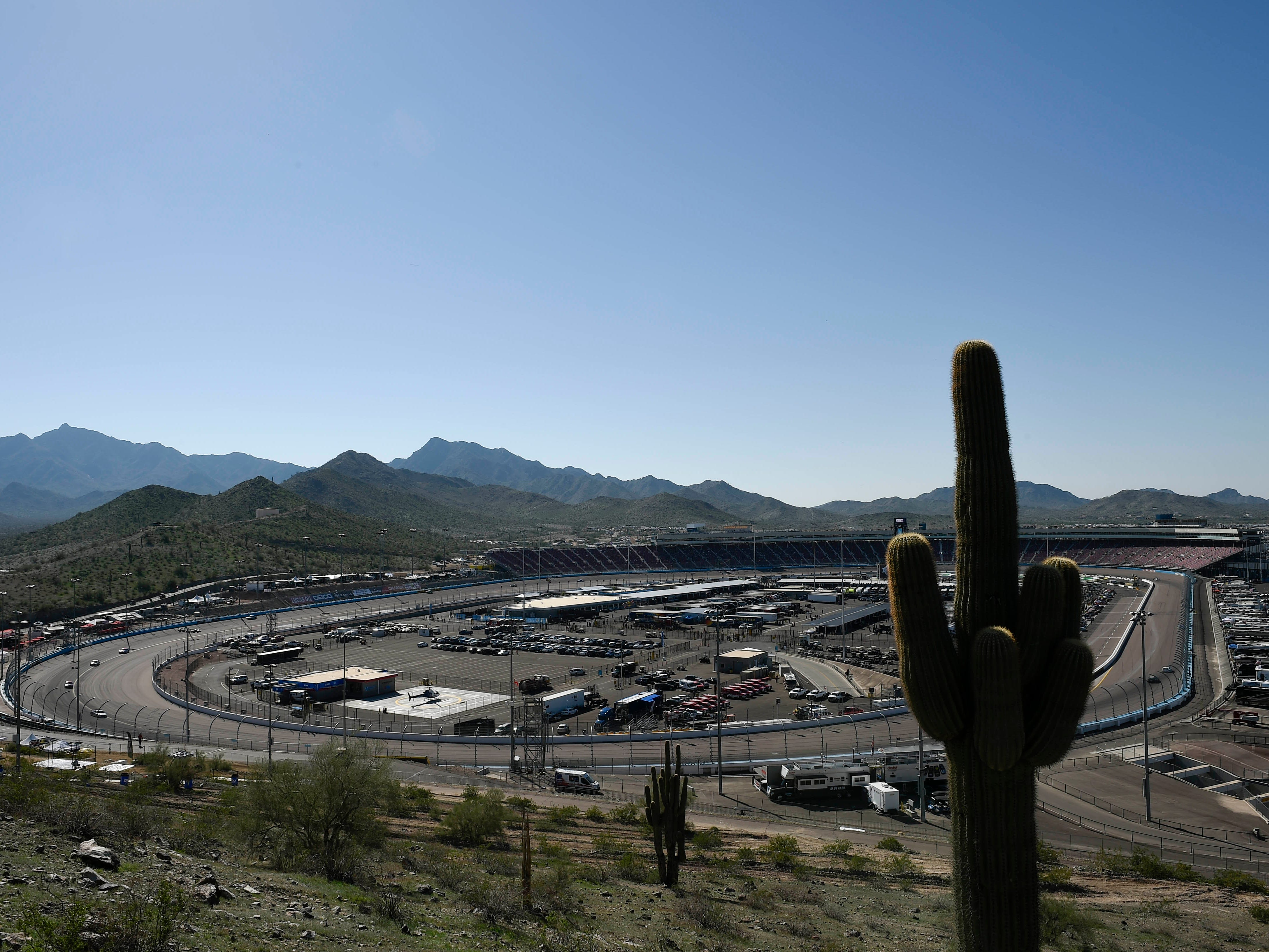 Nov 10, 2018; Avondale, AZ, USA; A general view of ISM Raceway during  practice for the Can-Am 500. Mandatory Credit: Kelvin Kuo-USA TODAY Sports