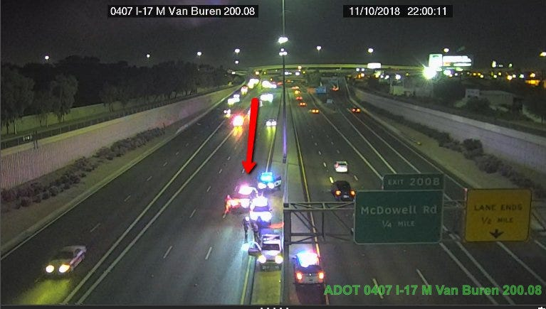 Police incident closes southbound lanes of I-17 at I-10, near The Stack | AZ Central