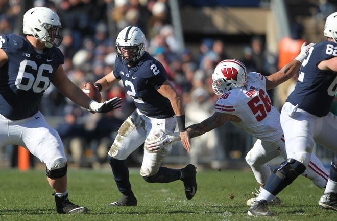 Tommy Stevens, seen here in action earlier this season vs. Wisconsin, will miss Penn State's bowl game after having surgery for an unspecified injury.  Joe Rokita / JoeRokita.com
