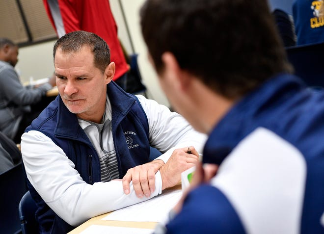 Dallastown High School wrestling coach Dave Gable, seen here at York-Adams League Winter Sports Media Day in November, will take his Wildcats to a tournament in Florida over the next several days. John A. Pavoncello photo