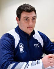 Dallastown's Raymond Christas said wrestling has helped him on the gridiron. DISPATCH FILE PHOTO