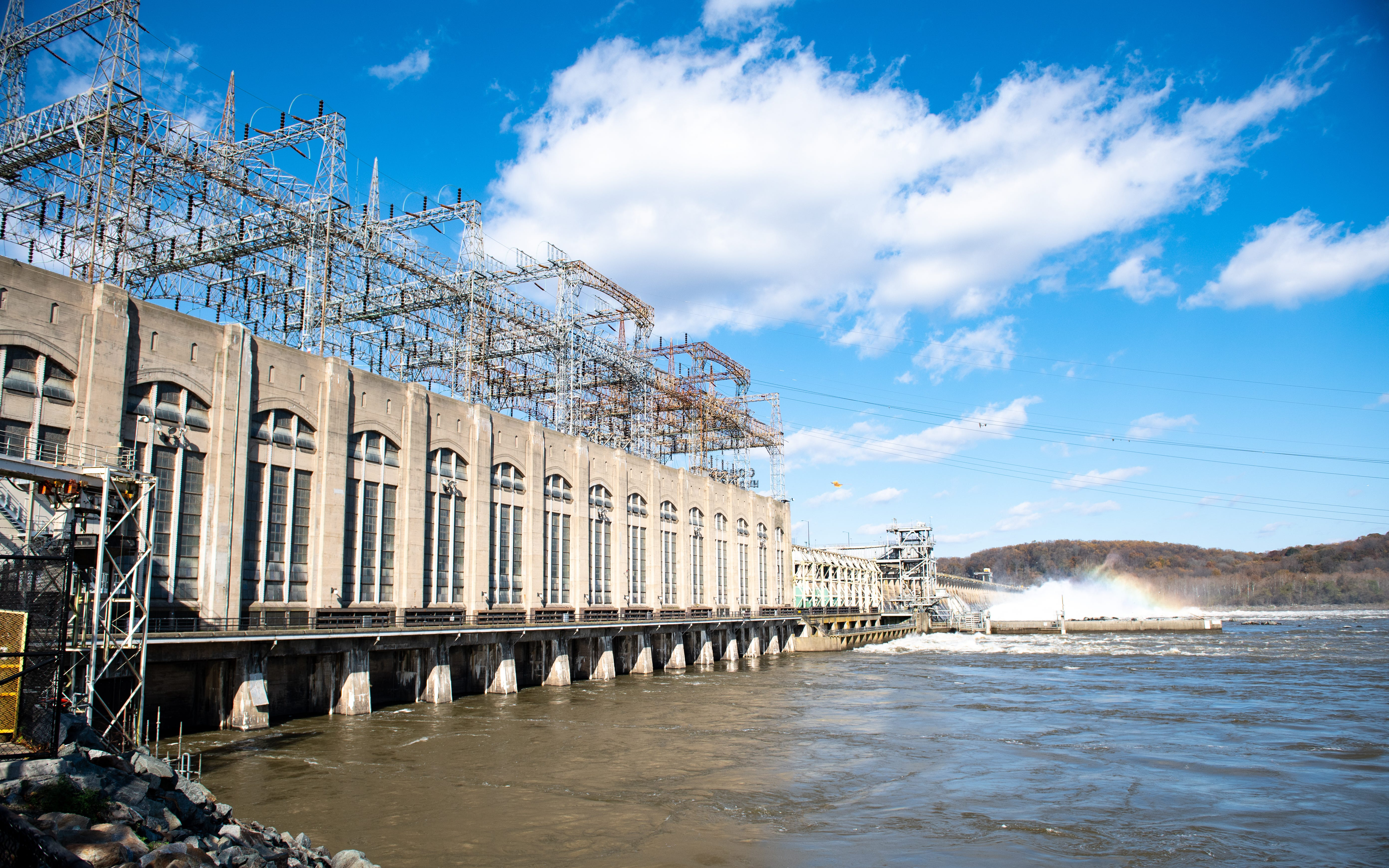 The 6th Annual Eagle Day event is held at the Conowingo Dam in Darlington, Maryland. This is one of the top sites in the country to see bald eagles, November 10, 2018.