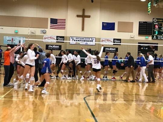 In the 4A, Bishop Gorman beat Galena, 4-0 for the girls state volleyball championship.