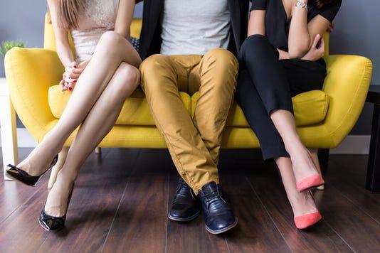 Love Triangle Conceptual Of A Threesome