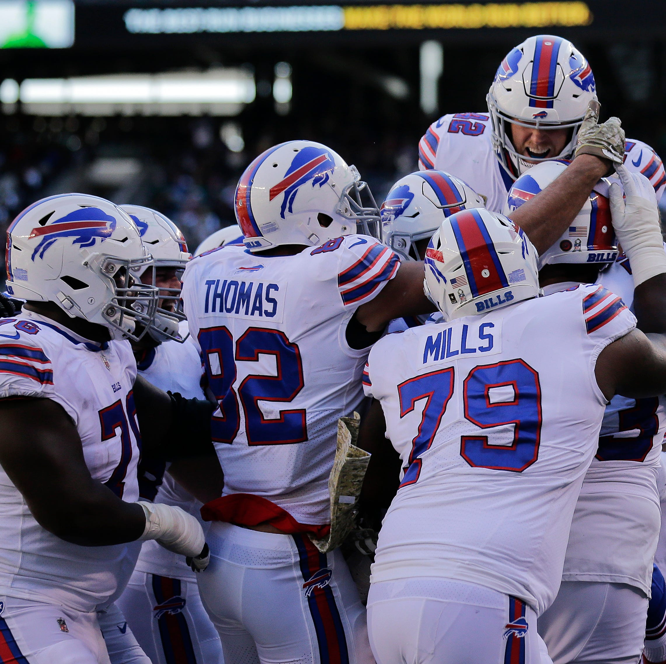 Buffalo Bills report card: Big man touchdowns and Barkley make Bills fun again