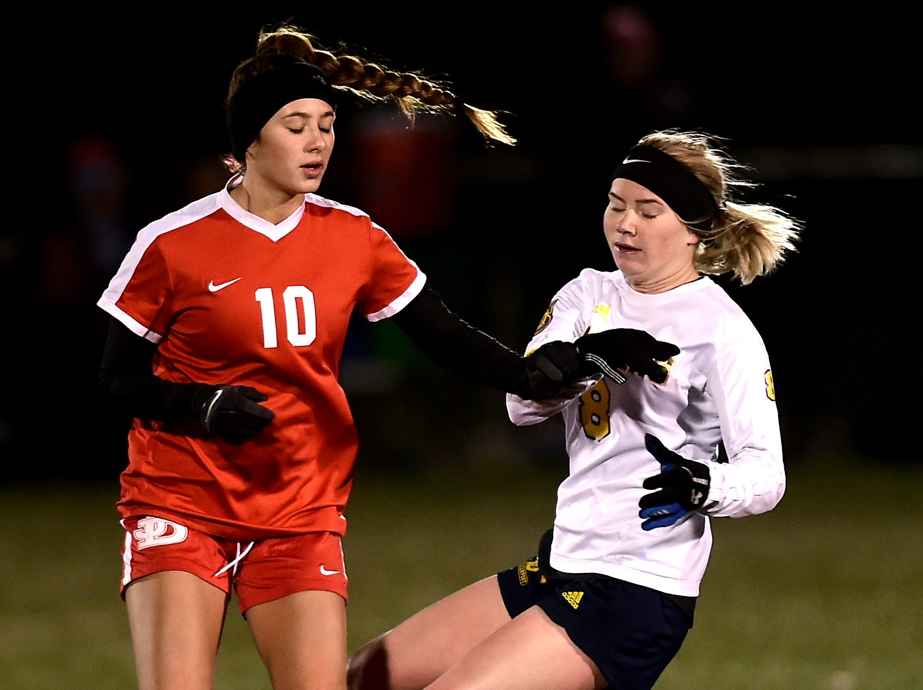 Spencerport vs. Jamesville-DeWitt, Class A, NYSPHSAA Girls Soccer Championship semifinal, Tompkins Cortland Community College, Dryden, NY. Saturday, November 10, 2018.