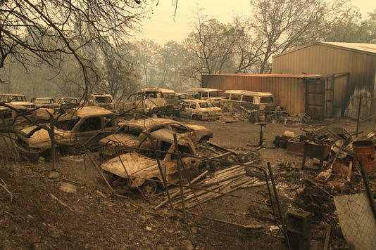 Camp Fire in Butte County, California