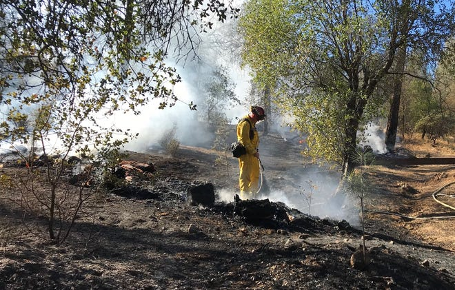 Firefighters leaped on a blaze north of Redding Sunday and have brought it under control.