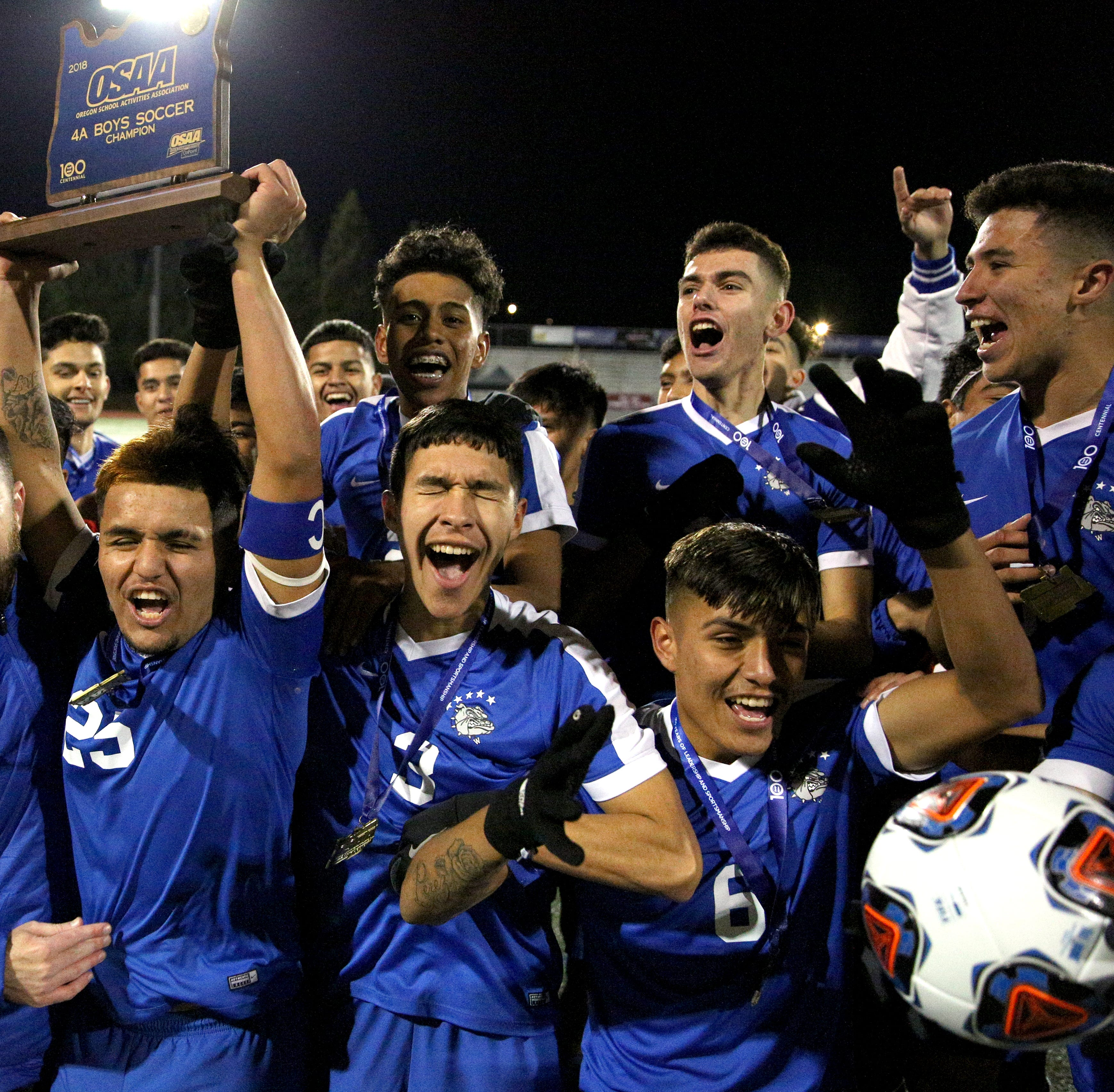 Woodburn defeats North Marion in 4A boys soccer state championship game