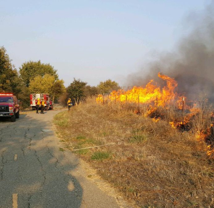 Salinas firefighters tackle blaze near Natividad