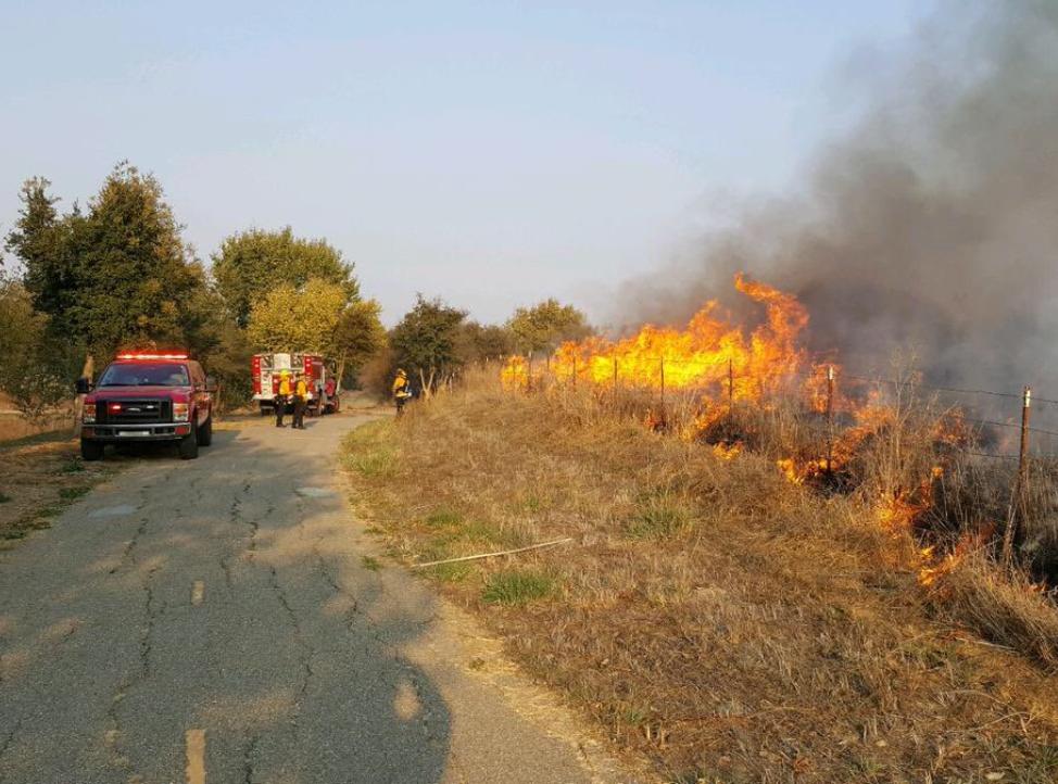 Salinas firefighters tackle blaze near Natividad