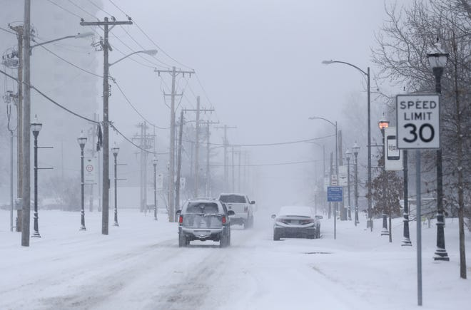 News-Leader file photo shows a snow-covered Springfield road in January 2018.