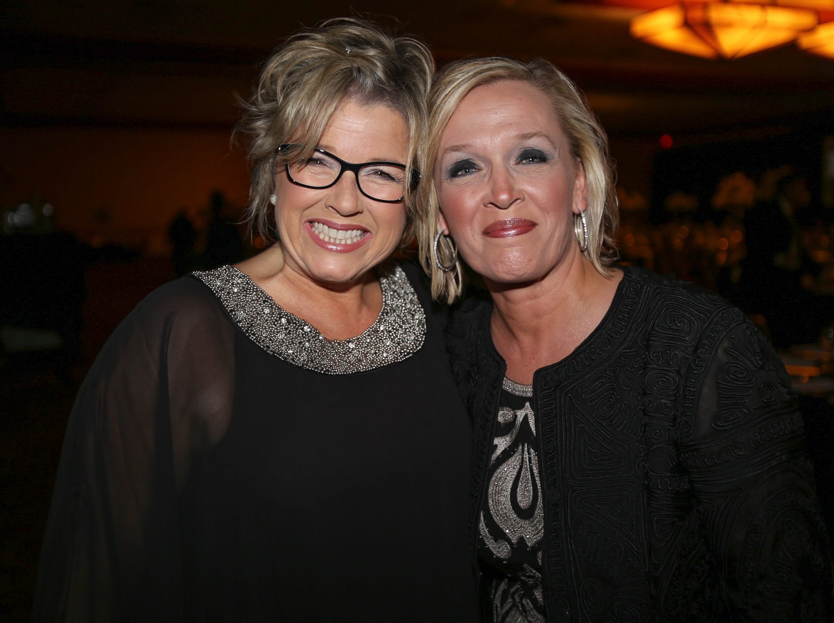 Lisa Lewellen and Cheryl Huson