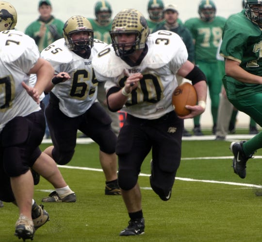 Buffalo Gap's Pickle Nuckols picks up yardage during the Bison's victory over Clintwood in the VHSL Class A, Division 1 championship game in 2007.