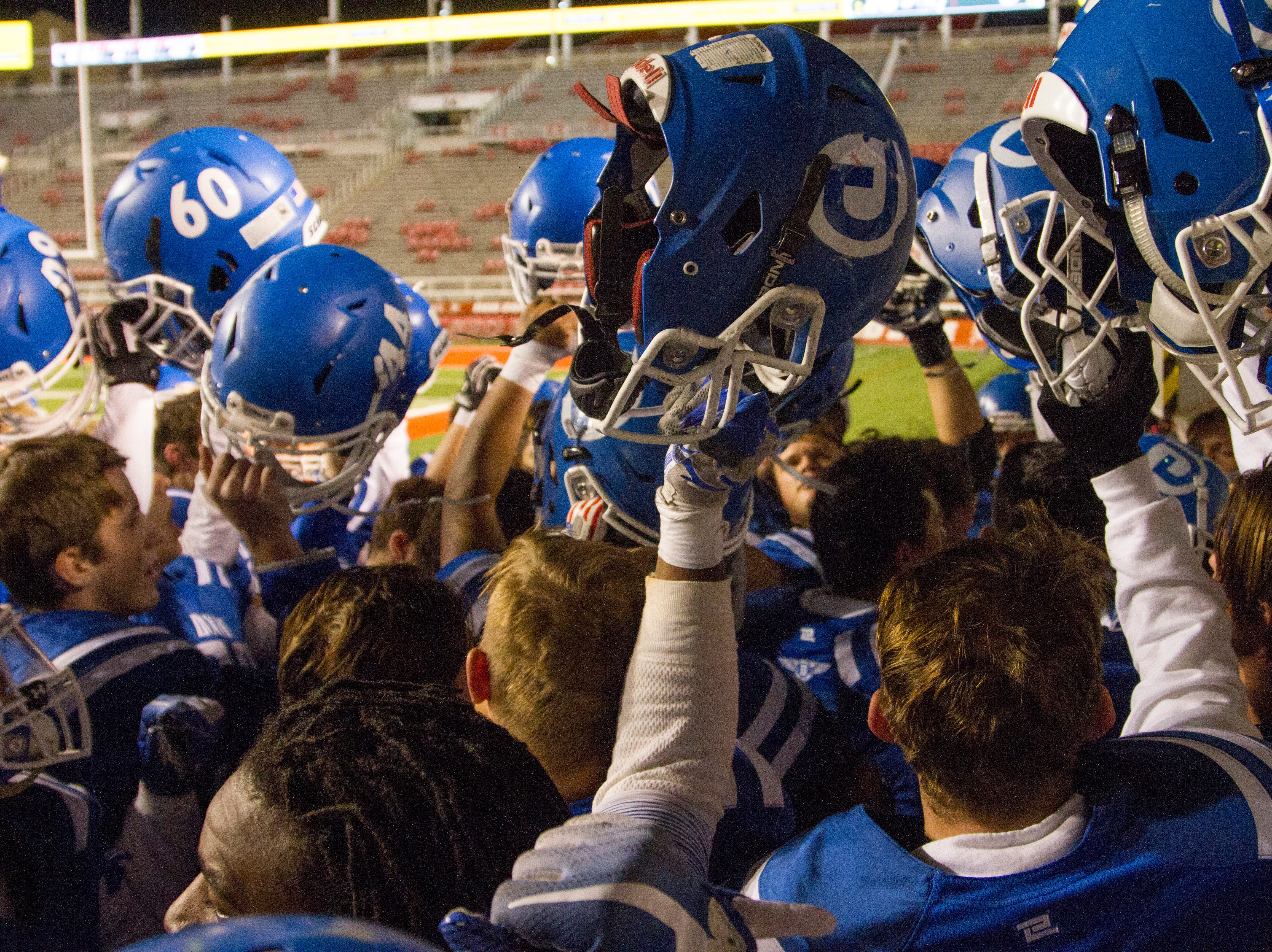 Dixie High School defeats Park City 20-0 during the state semifinals Thursday, Nov. 8, 2018.