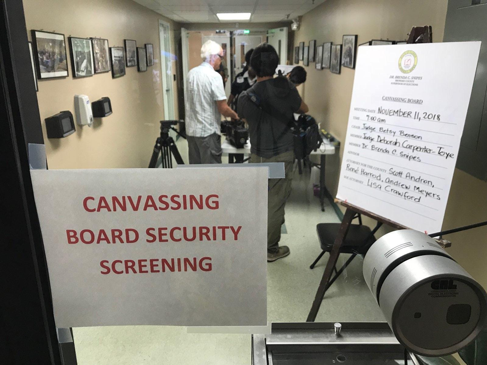 The recount was underway Sunday at the Supervisor of Elections office at Lauderhill Mall in Broward County.