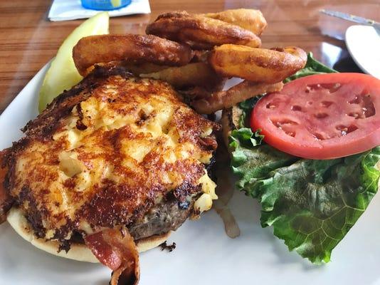 Manatee Island Bacon Mac N Cheese Burger 2