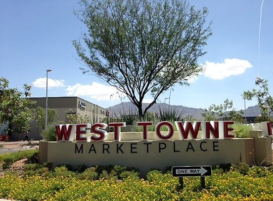 The new West Towne Marketplace in West El Paso is across the street from the 44-acre site where Great Wolf Resorts is proposing to build a $150 million-plus hotel resort complex.